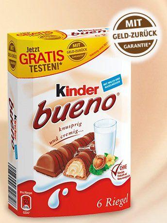 Kinder Bueno Ferrero Kinder Bueno (6er Pack) kostenlos testen dank Geld zurück Garantie