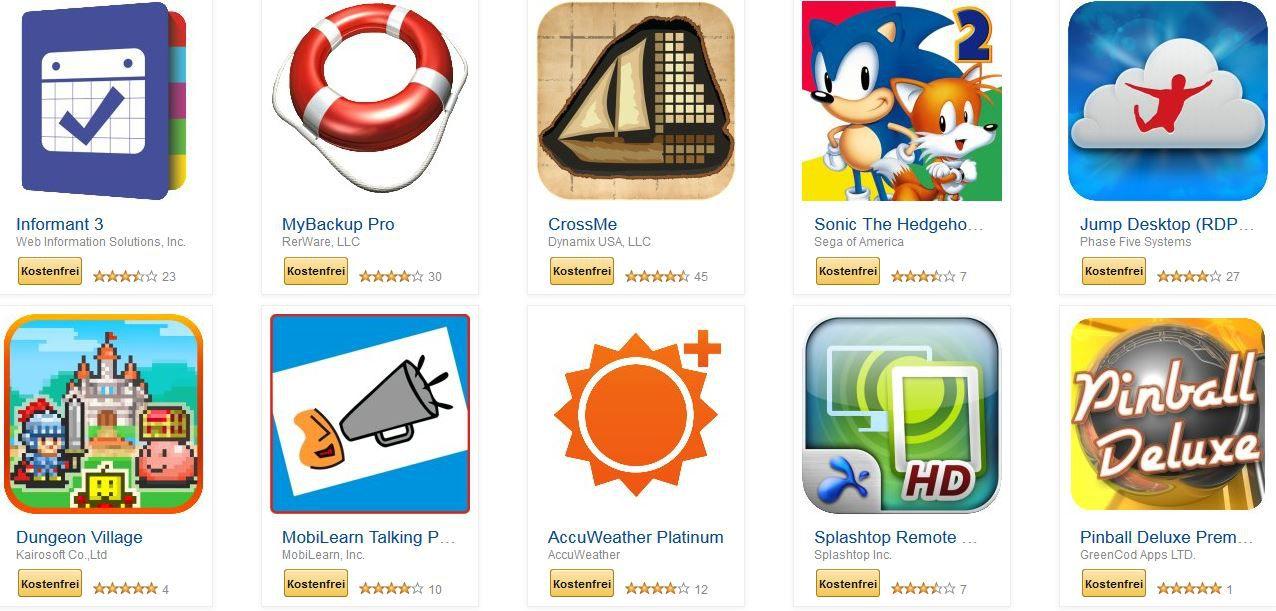 Kindle Fire & Android Apps im Wert von 100€ heute kostenlos! Knaller