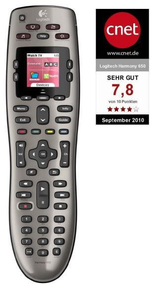 Logitel Logitech Harmony 650 Remote Universalfernbedienung für 47€ (statt 55€)