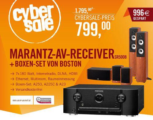 Marantz Receiver und Boston Lautsprecher Marantz AV Receiver SR5008 + Boston Lautsprecher Set für 799€