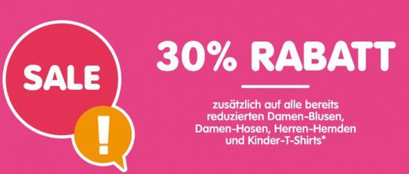 Ganze 30% Extra Rabatt auf ausgewählte Kleidung bei NKD