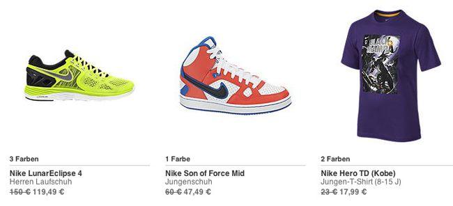 Nike Angebote Nike Sale mit bis zu 30% Rabatt + 20% Extra Rabatt   kostenlose Lieferung ab 50€   Update