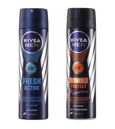 SCHNELL! Nivea Men Fresh Active Deo Spray (aluminiumfrei, 4er Pack (4 x 150 ml)) für nur 3,50€