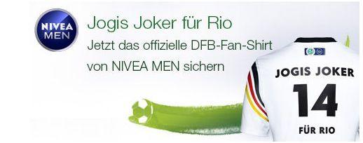 Nivea Men Nivea Men Produkte im Wert von 12€ kaufen und DFB Fan Shirt + gratis Versand bekommen