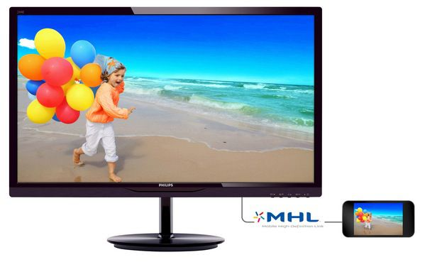 Philips 244E5QHAD   23,8 Full HD LED Monitor mit IPS Panel (HDMI, 5ms Reaktionszeit) für 139,90€