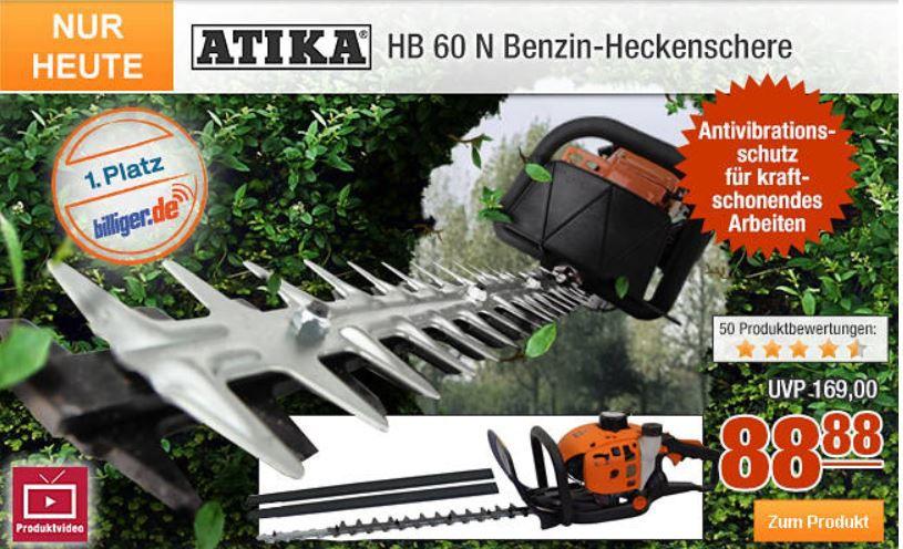 Atika HB 60 N Benzin Heckenschere für nur 79,99 dank Plus.de 10% Rabattaktion bis Mitternacht