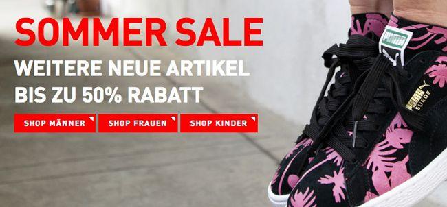 Puma Sale bis zu 50% Rabatt + 25% Extra Rabatt