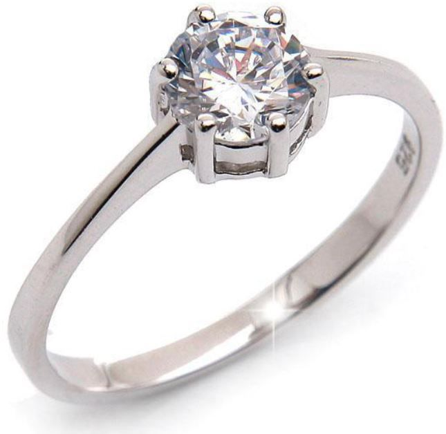 Ring Silvity.de Sterling Silber Verlobungsring ab 4,95€ + Gutscheine