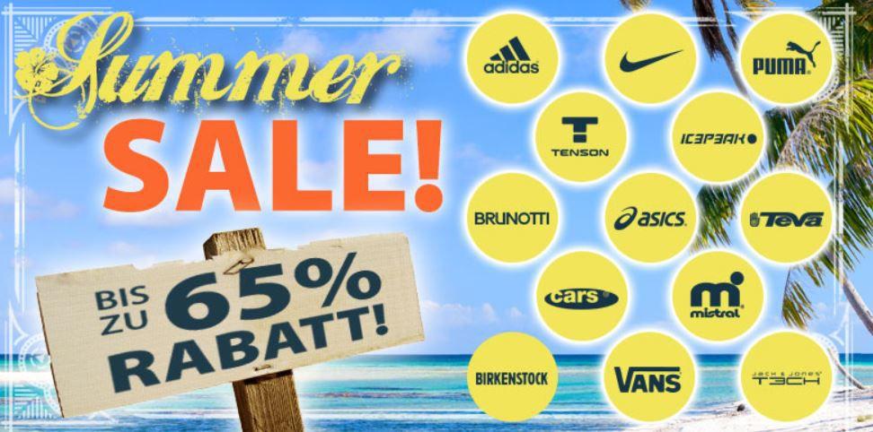 Sale Plutosport   Summer Sale mit bis zu 65% Rabatt + 5€ Gutschein (Adidas, VANS, Puma…)