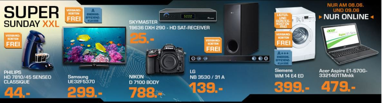 PHILIPS SENSEO HD7810 für 44€ und mehr bei den Saturn Super Sunday XXL Angeboten