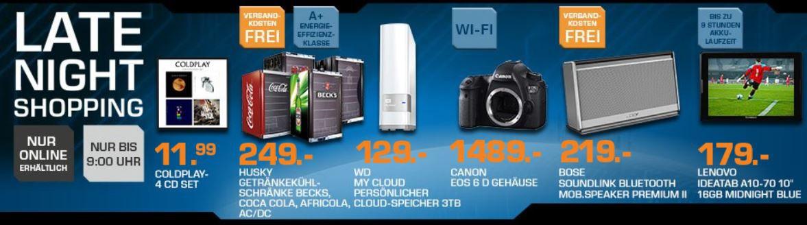 Saturn3 BOSE Soundlink mobiler Speaker für 219€ und mehr Saturn Late Night Sale Angebote