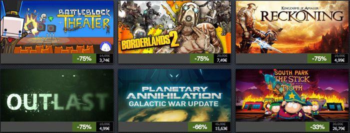 Steam Summer Sale mit Rabatten von bis zu 90%