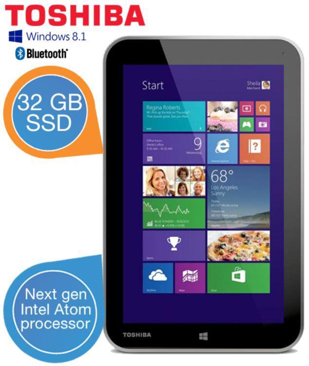 Toshiba Encore WT8 A 102 Tablet mit Next Generation Intel Atom CPU + Windows 8.1 für 185,90€