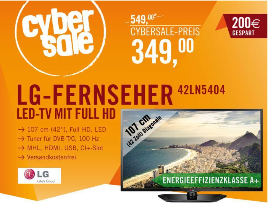 LG 42LN5404   42 Zoll TV für 349€ incl. Versand