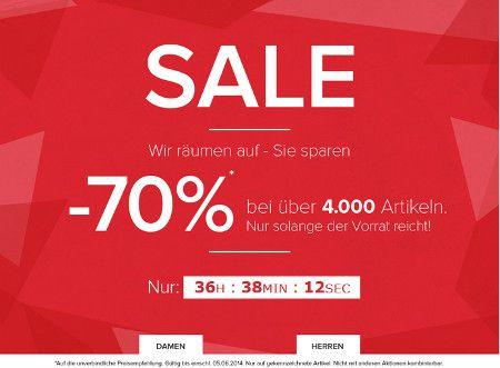 Bis zu 70% Rabatt im Sale von dress for less + 10% Gutschein