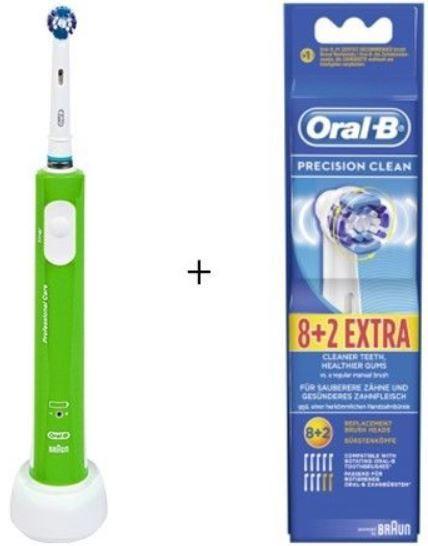 Oral B ProfCare 600 grün mit Wechselbonus + 10 Aufsteckbürsten Precision Clean für effektiv 44,99€