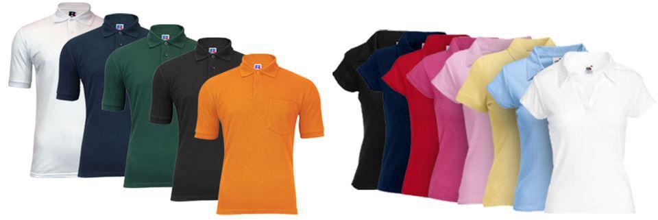 ebay43 Fruit of the Loom   Doppelpack Russell Polo Shirts   Damen und Herren für je 9,99€ inkl. Versand   Update