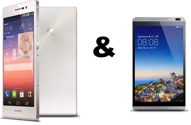 Huawei Ascend P7 16GB Smartphone + Tablet Huawei MediaPad M1 8.0 inkl. Vodafone Smart M für 19,99€ monatl.   Update