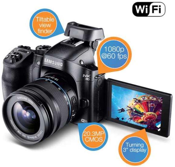 Samsung NX30 20 MP Digitalkamera mit 18   55mm Obektiv für 555,90€ statt 769€!