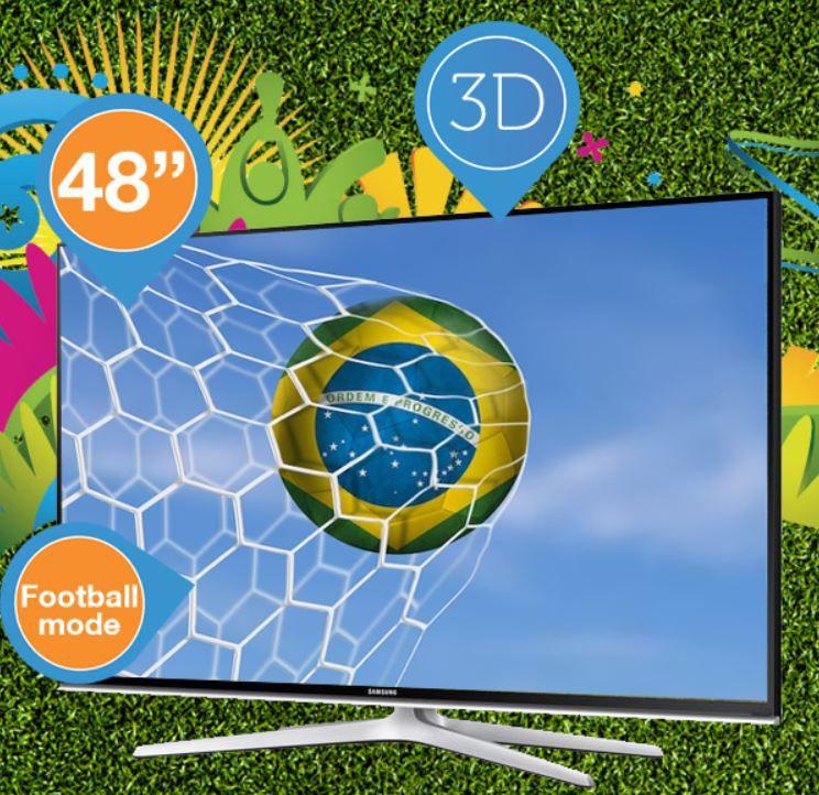 Samsung UE48H6500   48 Zoll 3D Smart TV mit Quad Core Prozessor und Soccer Modus für 758,90€
