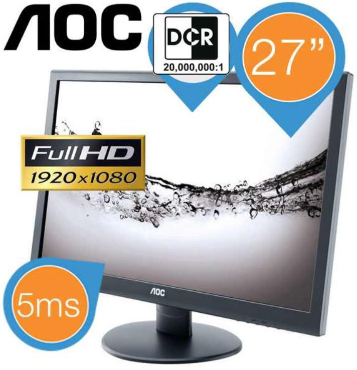 AOC E2752VA   27 Zoll Full HD LED Monitor für 158,90€