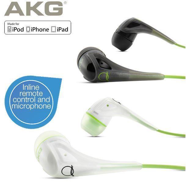 ibood17 AKG Q350   In Ear Kopfhörer (Duo Pack) mit Inline Fernbedienung und Mikrofon für 35,90€
