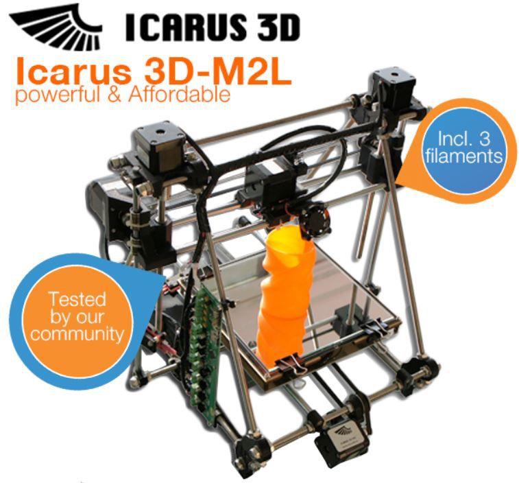 Icarus 3D M2L   3D Drucker für nur 607,95€