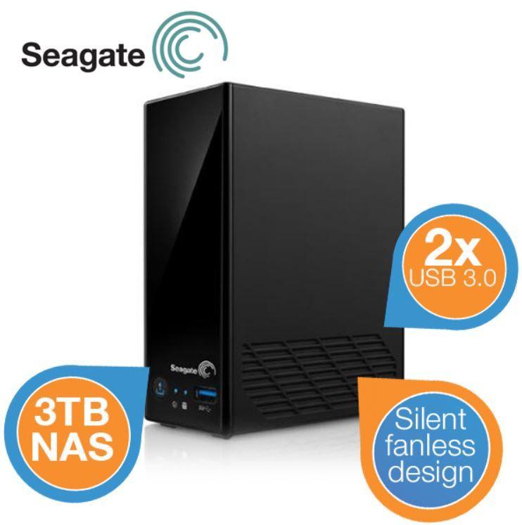 Seagate Business Netzwerkspeicher 1 bay NAS inkl. 3TB HDD und Versand für 135,90€