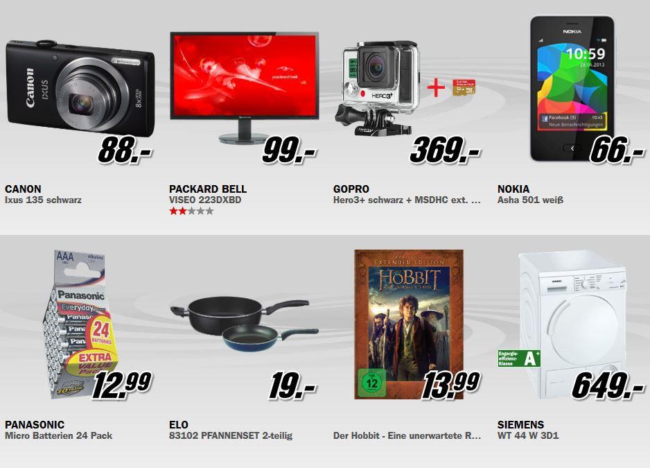 mediamarkt8 CANON Ixus 135 für 88€   beim MediaMarkt Sommer Start Verkauf