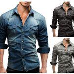 MERISH 46 – Herren Jeans Denim Hemd für 19,90€
