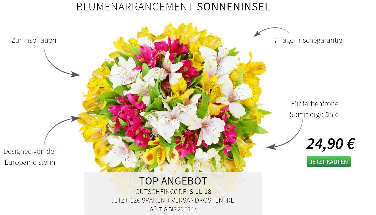 Blumenstrauß – Sonneninsel für 12,90€ inklusive Versand