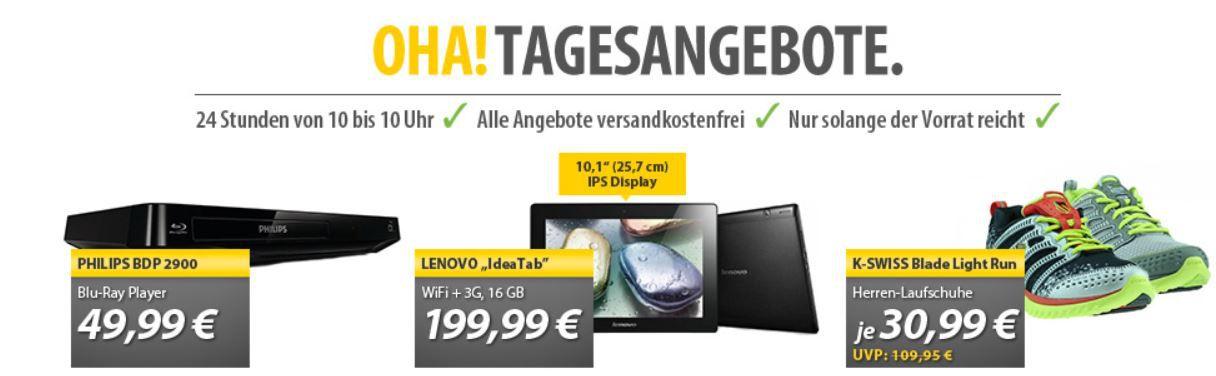 Lenovo IdeaTab S6000 H Tablet 10.1 Wifi + 3G 16GB black für 195,20€ bei den OHA Angeboten