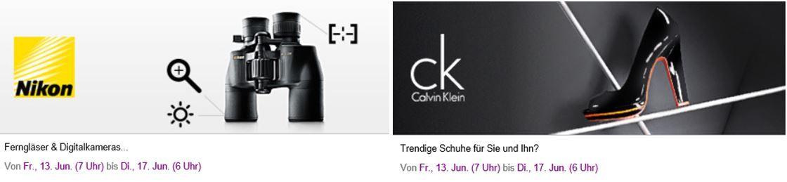 NIKON   Ferngläser u. Digital Kameras + Calvin Klein   trendige Schuhe   Heute neu bei Vente Privee!
