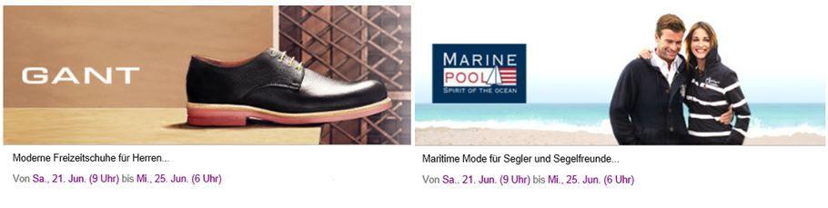 GANT Herren Freizeitschuhe & Marine Pool sportliche Bekleidung   heute neu bei Vente Privee!