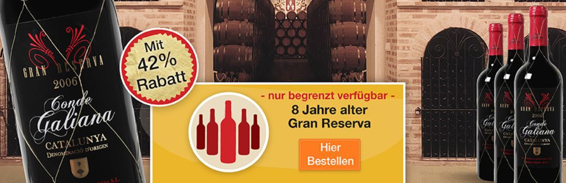 wein La Vinicola De Gandesa Gran Reserva im 12er Pack für 64,83€ dank 25€ Rabatt bei Weinversand