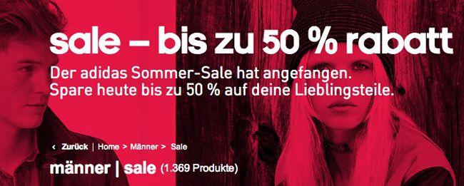 Adidas Sale Adidas Sommer Sale mit bis zu 50% Rabatt   Update