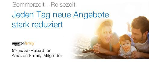 Amazon Tip! Ab heute Family Angebote mit 5% Extra Rabatt für die Sommer und Reisezeit