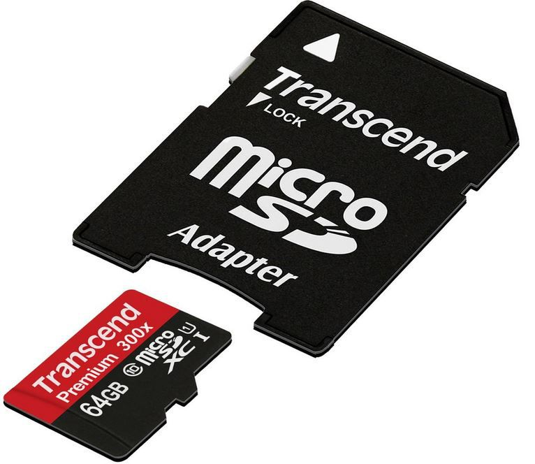AmazonBlitz1 Transcend Premium Class 10 microSDXC 64GB Speicherkarte mit SD Adapter für 32,99€