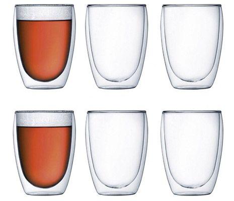 6er Set Bodum Pavina doppelwandige Gläser (je 350ml) für 36,99€ (statt 46€)