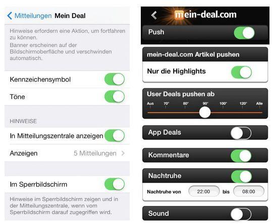 INFO Pushdienst wieder aktivieren in der iOS App