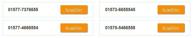 Blau vIP Rufnummern Blau.de mit VIP Handynummern voll portierbar   nur 10€ inkl. max. 20€ Guthaben (Prepaid)