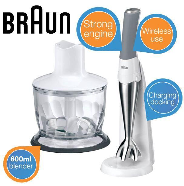 Braun Multiquick   kabelloser Stabmixer mit Zubehör für 50,90€