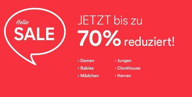 Bis zu 70% Rabatt im C&A Onlineshop + 10% Gutschein