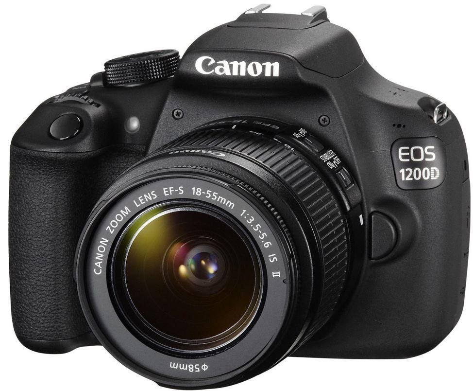 CANON EOS 1200D   18 MP SLR Kamera mit 18 55mm IS II Objektiv für 299€