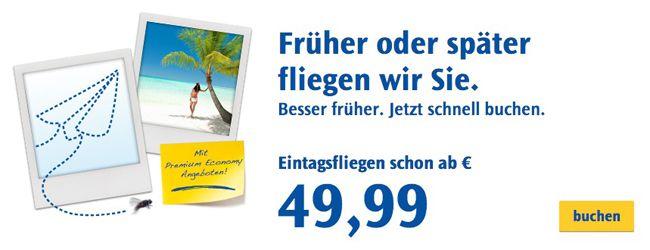 Condor mit neuer Eintagsfliegen Aktion mit vielen Angeboten ab 49,99€