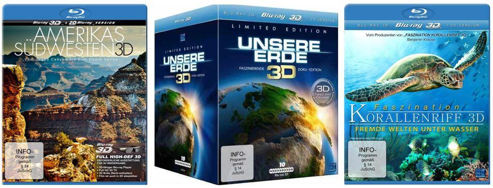 Blurays 3D Dokus Weltnaturerbe ab 7,97€    bei den Amazon DVD und Blu ray Angeboten der Woche