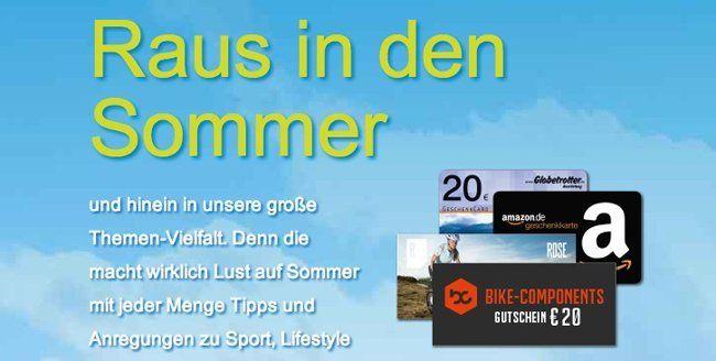 Sommerlust bei DPV: verschiedene Magazine zu Sonderpreisen dank Prämien bis zu 50€