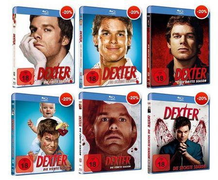 Dexter Staffel 1 bis 6 auf Blu ray für je 13,76€ oder auf DVD für je 8,60€
