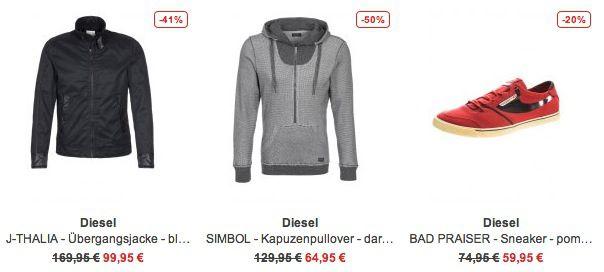 Diesel Sale bei Zalando   bis zu 70% Rabatt auf knapp 300 Artikel