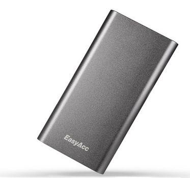 EasyAcc Powerbank EasyAcc Powerbank mit 8.200mAh im Aluminium Design für 18,99€